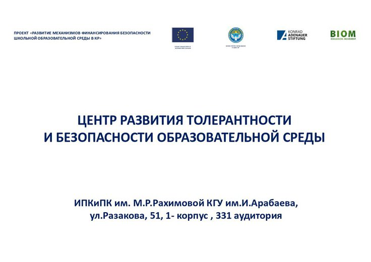 Яковлев Михаил / Центр развития толерантности и безопасности образовательной среды